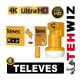 TELEVES - Single FULL HD - PREMIUM 0.3db - 40mm