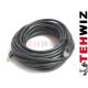 Kabel do kamer LAN 10 metrów Czarny