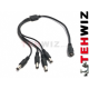 Kabel zasilający DC 1 do 4 Power Splitter do kamery CCTV