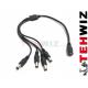 Kabel zasilający DC 1 do 4 Power Splitter do kamery CCTV
