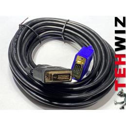Kabel przewód DVI na VGA 5m...